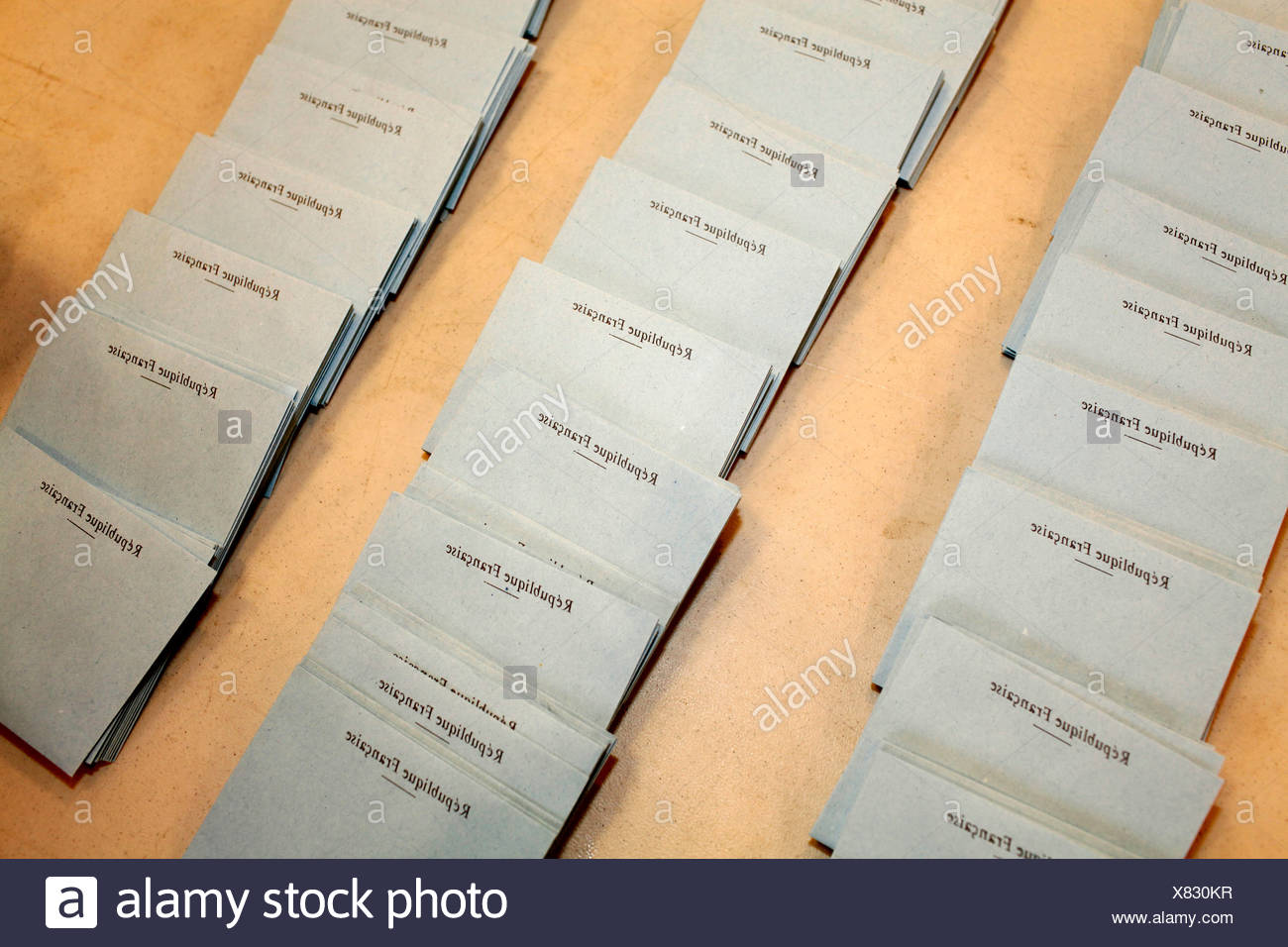 French presidential election - ballots Montrouge. France. - Stock Image