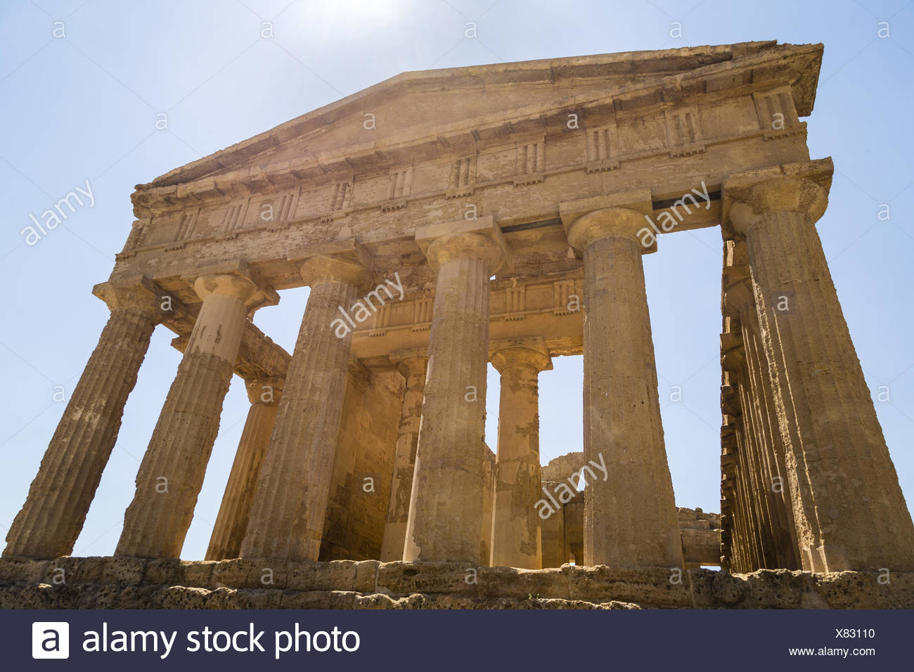 Temple of Concordia, Agrigento, Sicily - Stock Image
