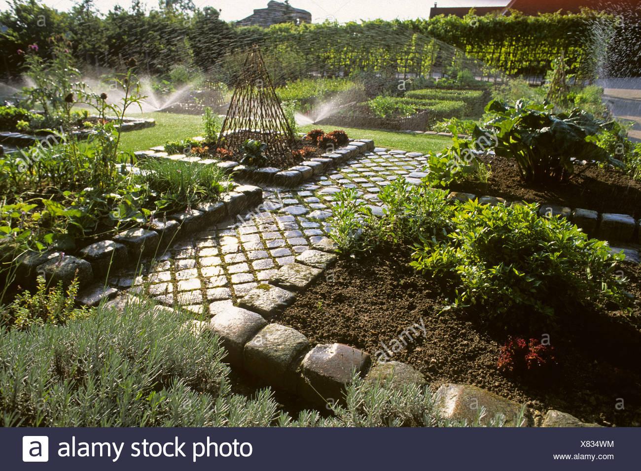 Eure Et Loir The Medieval Gardens Of Bois Richeux Stock Photos ...