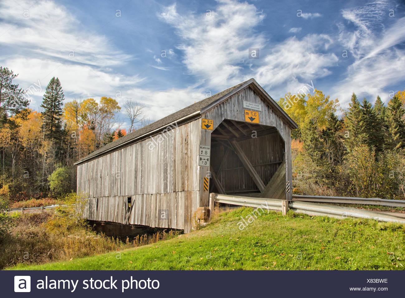 Ward's Creek #2 covered Bridge, MacFarlane, New Brunswick, Canada - Stock Image