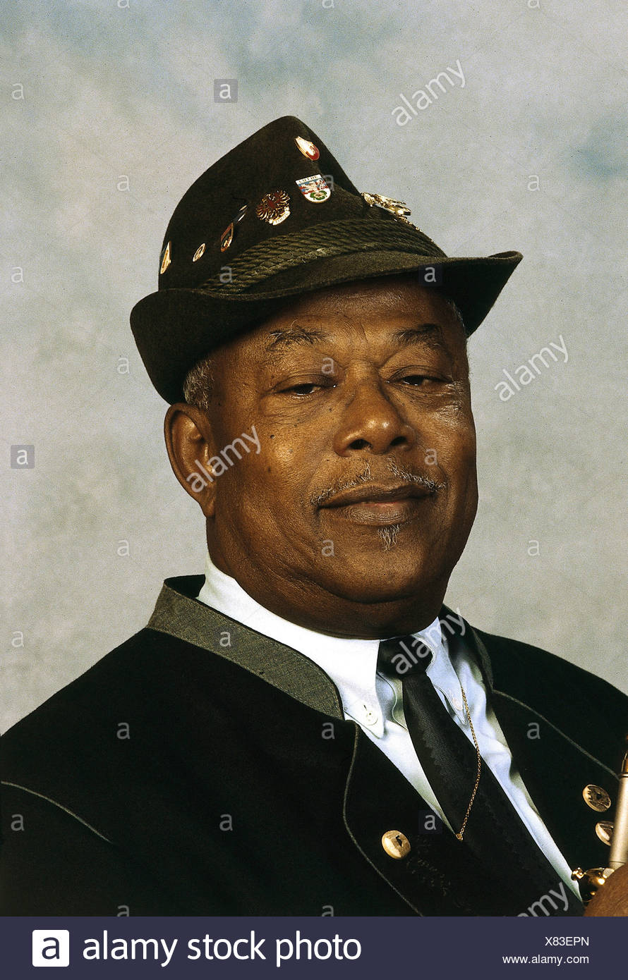 Mo, Billy, 22.2.1923 - 16.7.2004, German musician (jazz trumpeter), born as Peter Mico Joachim on Trinidad, portrait, 1995, Additional-Rights-Clearances-NA - Stock Image