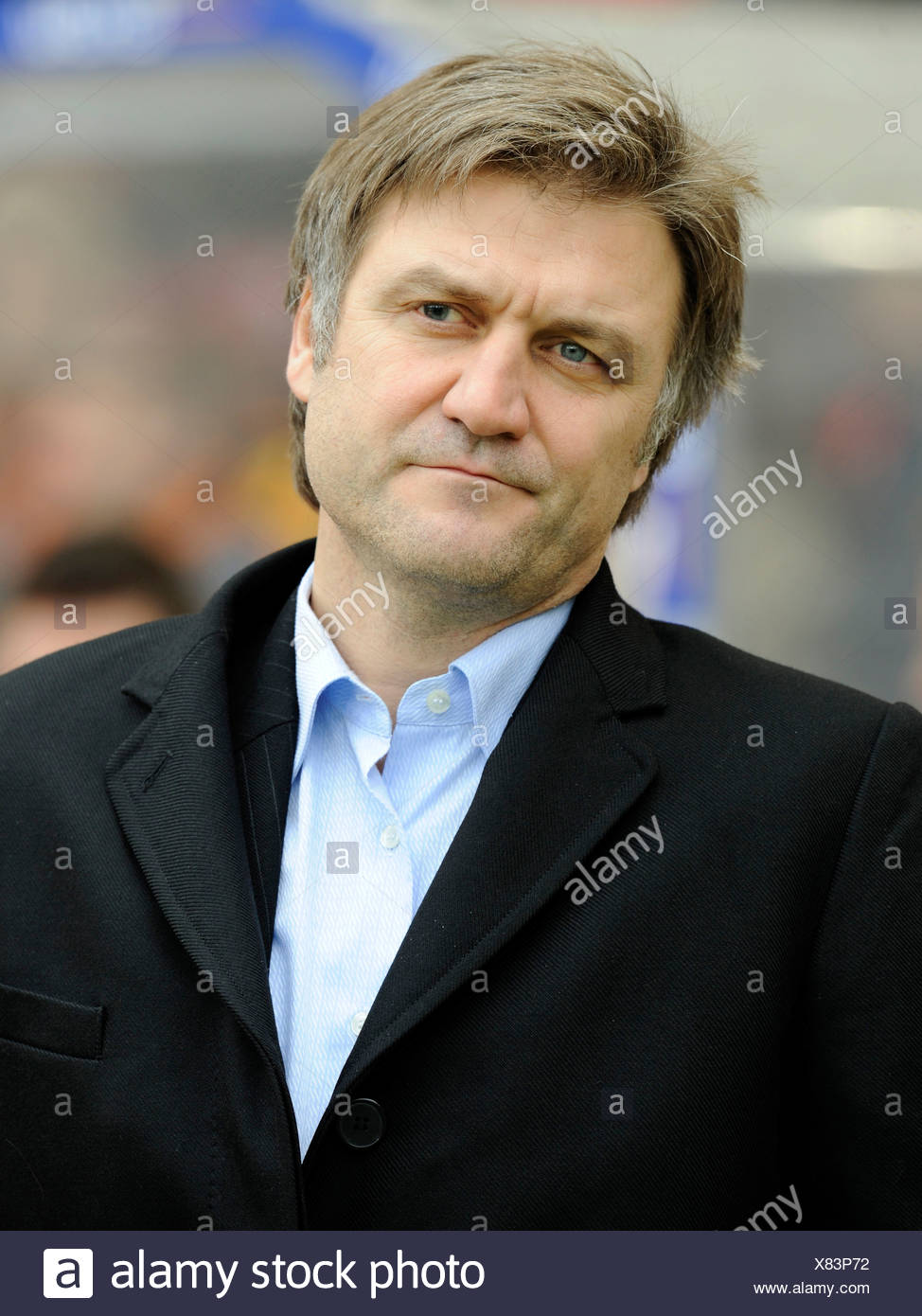 Head of sports Dietmar Beiersdorfer, Hamburger SV football club - Stock Image