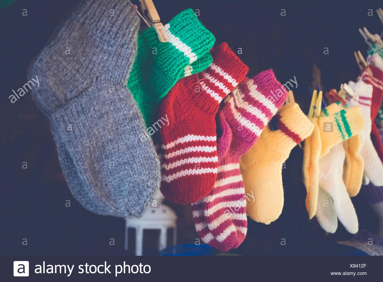 Gray Christmas Stockings.Gray Stockings Stock Photos Gray Stockings Stock Images