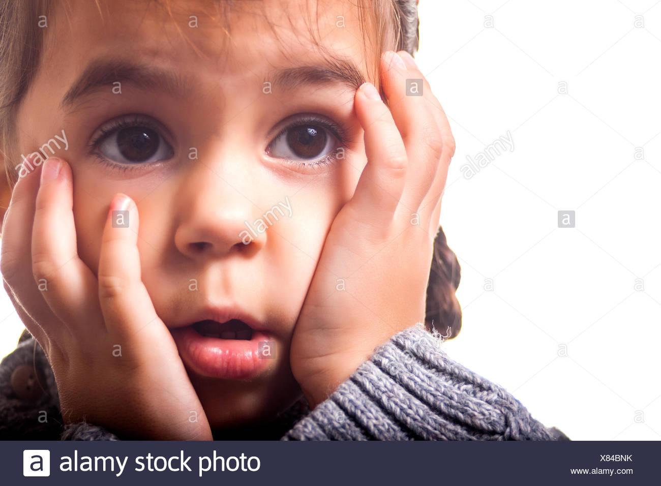 Astonished girl - Stock Image