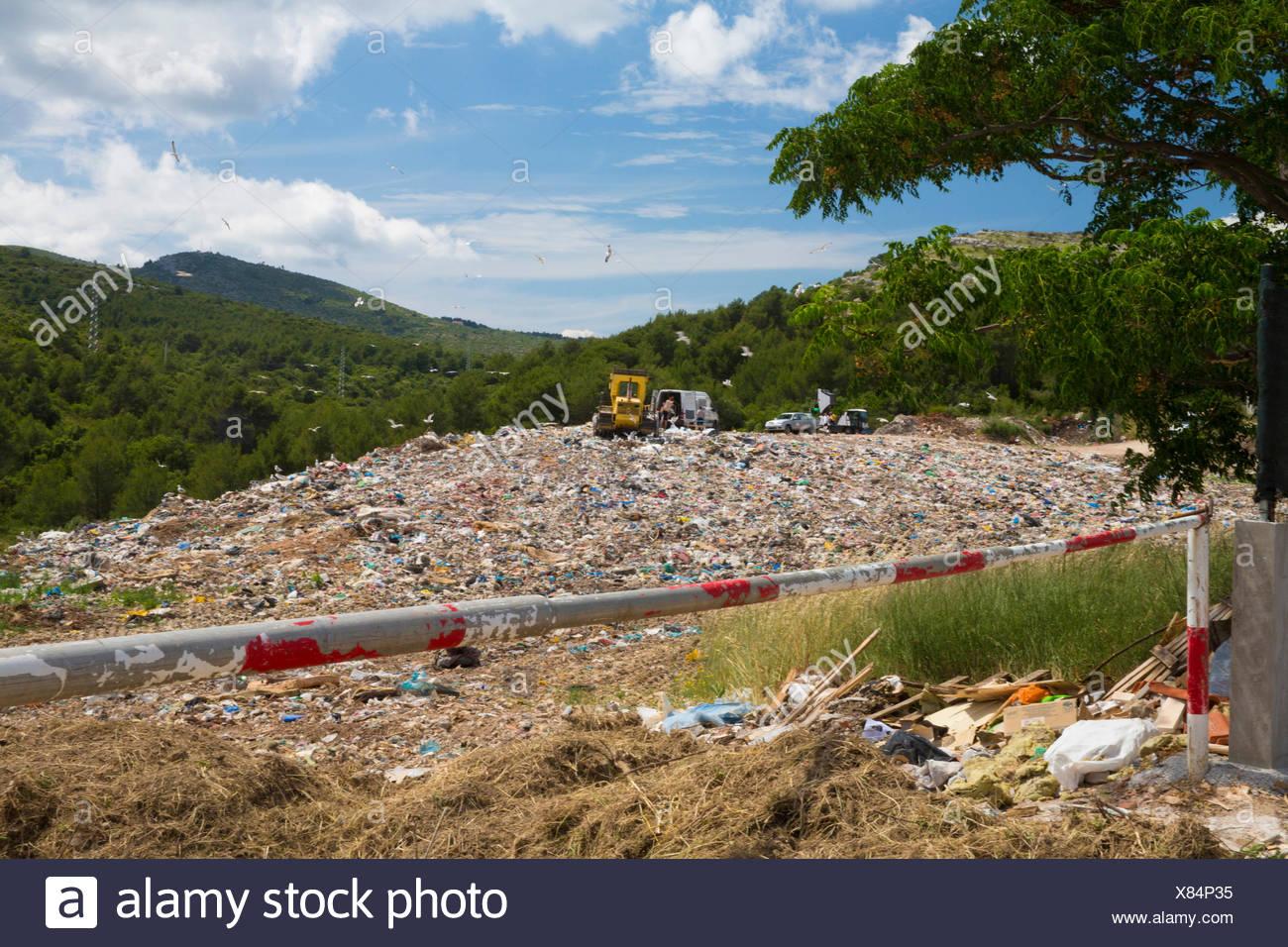 Waste disposal in Hvar, - Stock Image