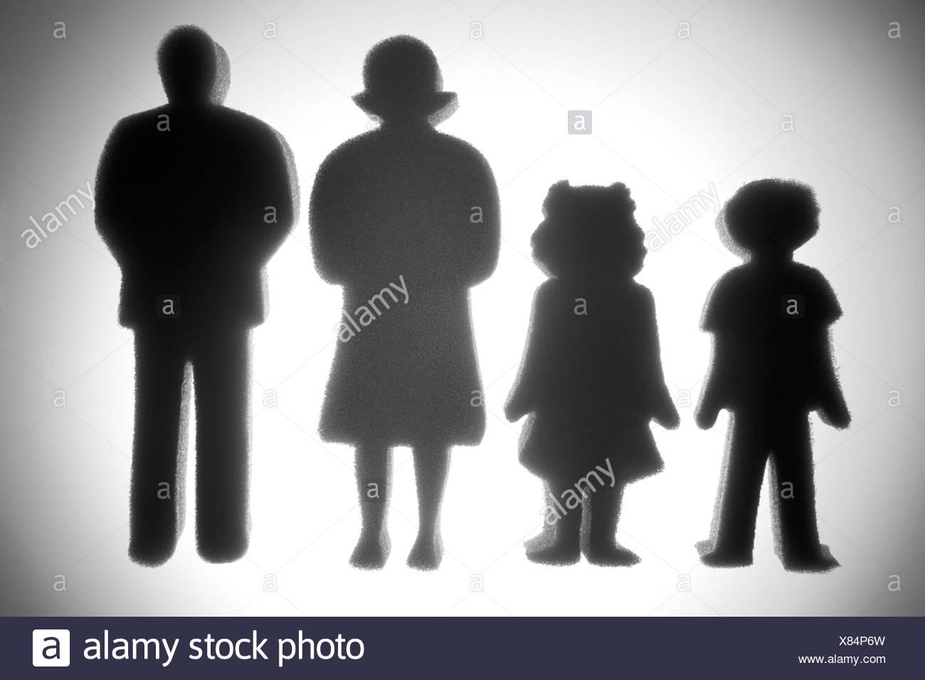 Average Family - Stock Image