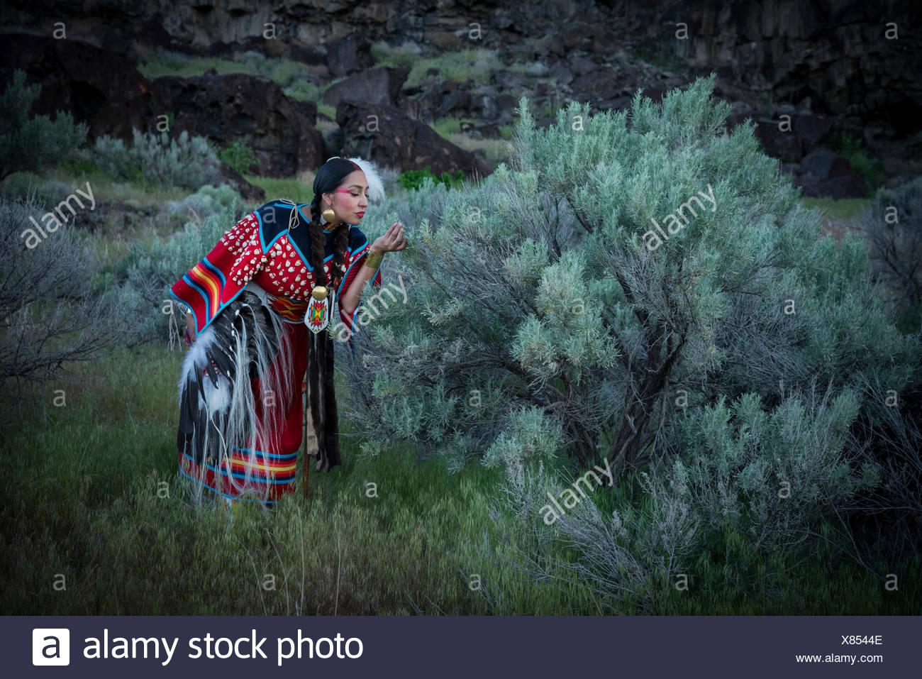 USA,Idaho,Willow Abrahamson,MR 0562. Shoshone Beauty along Snake River Canyon Stock Photo
