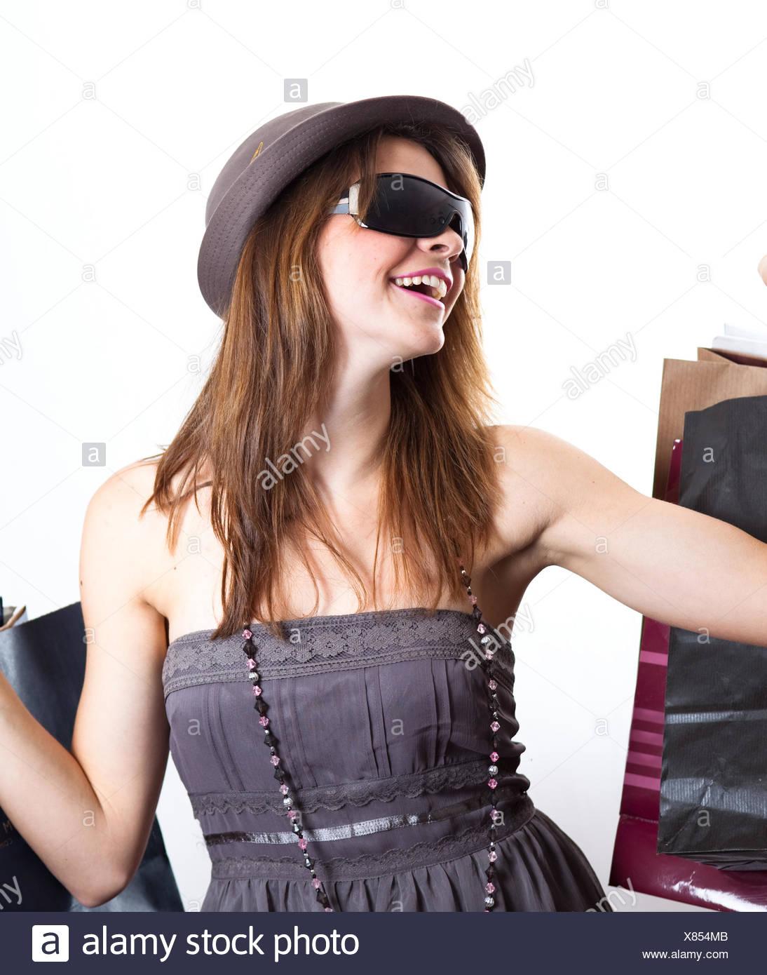 woman shopping consumer - Stock Image