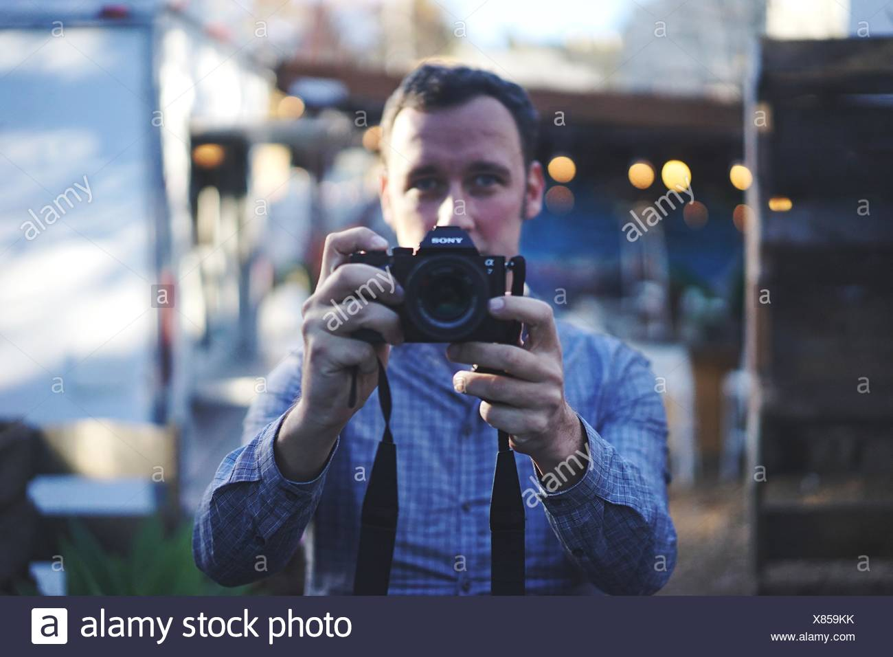 Portrait Of A Male Photographer - Stock Image