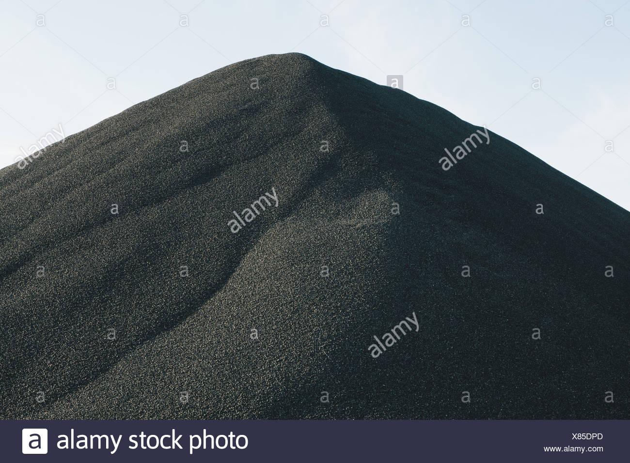Seattle Washington USA Black coloured gravel pile at quarry Seattle - Stock Image