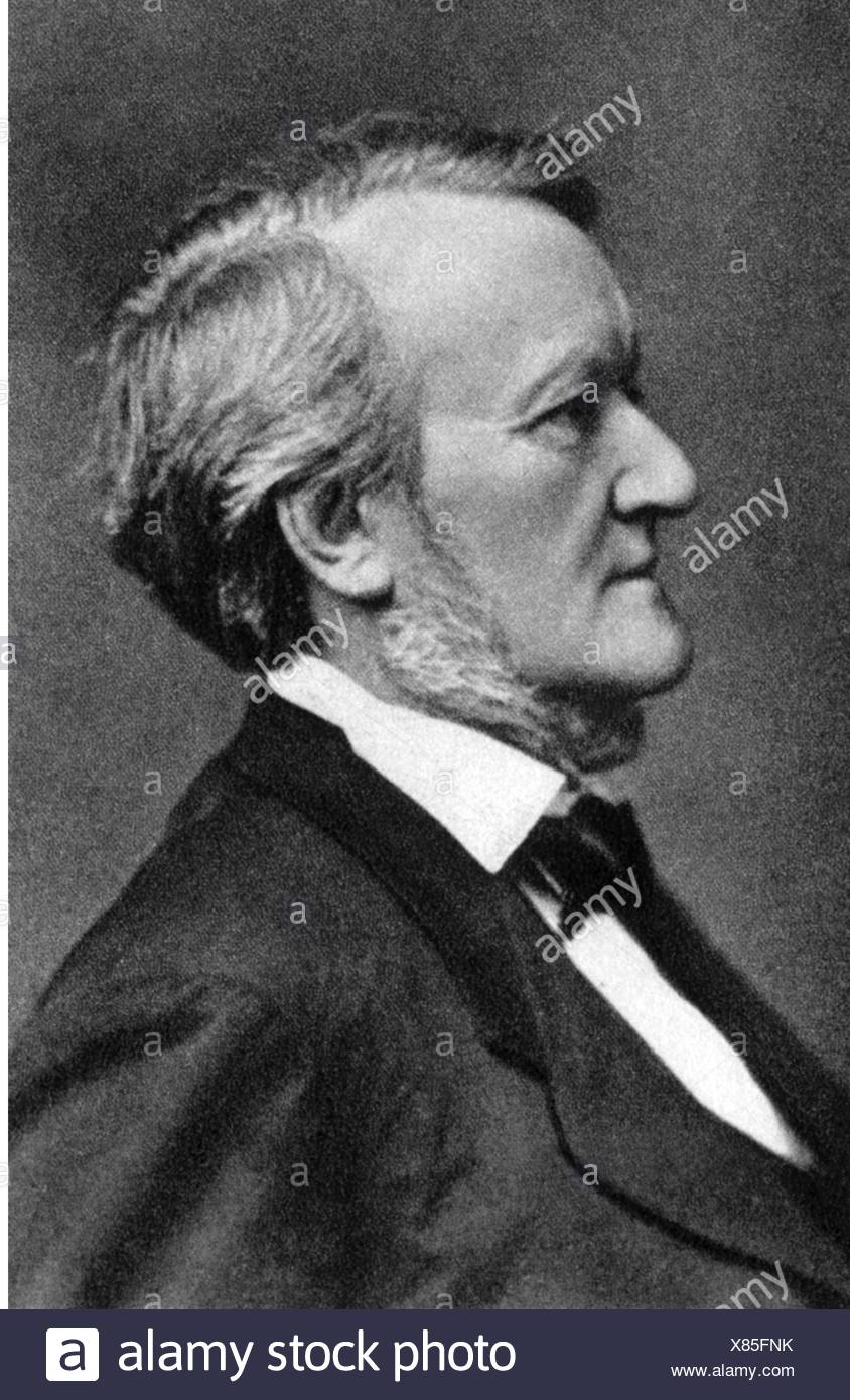 Wagner, Richard, 22.5.1813 - 13.2.1883, German composer, portrait, photograph, by Elliott & Fry, London, 1877, Additional-Rights-Clearances-NA - Stock Image
