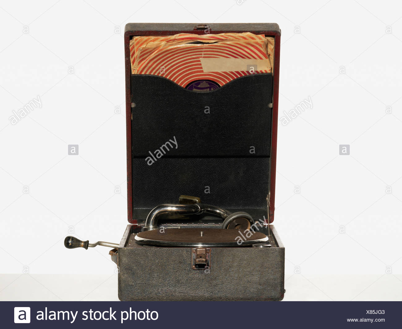 Vintage record player - Stock Image