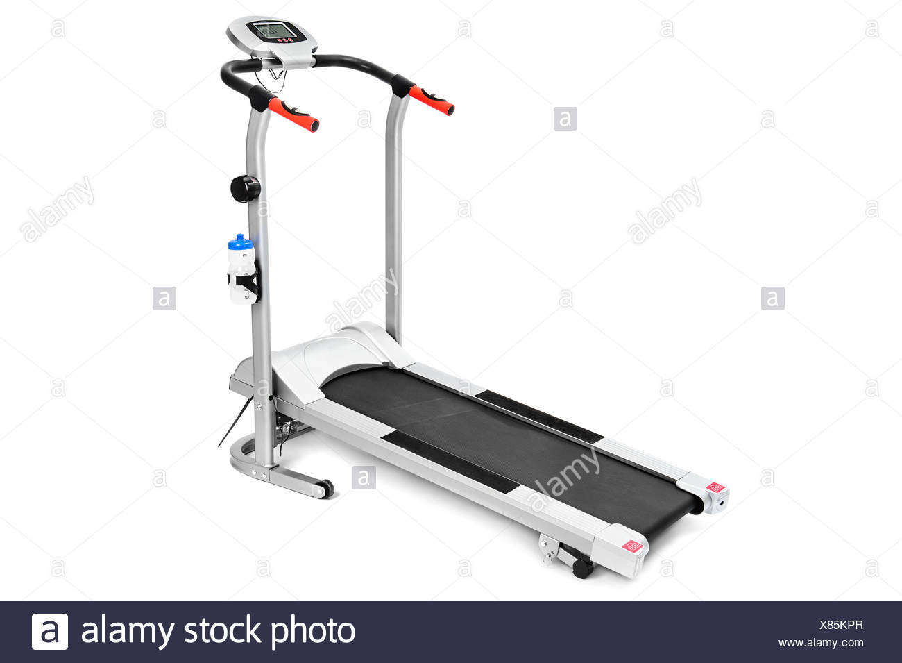 gym equipment, treadmill for cardio workouts - Stock Image
