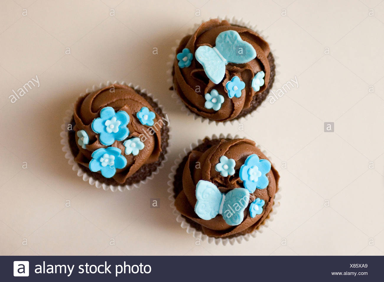 Cupcakes Butterfly Decorations Stock Photos Cupcakes Butterfly