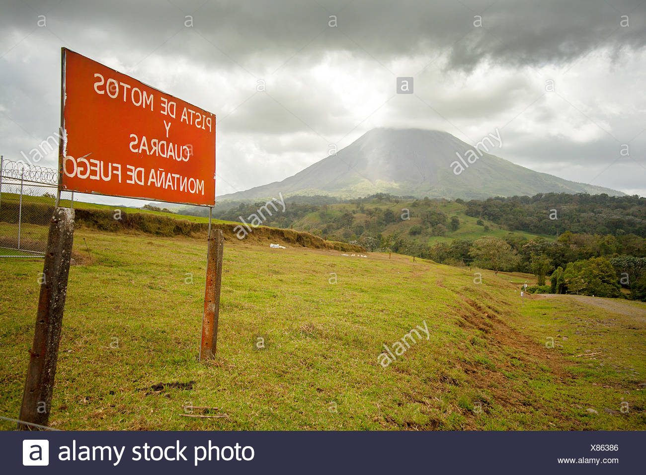 Arenal Volcano in Costa Rica - Stock Image