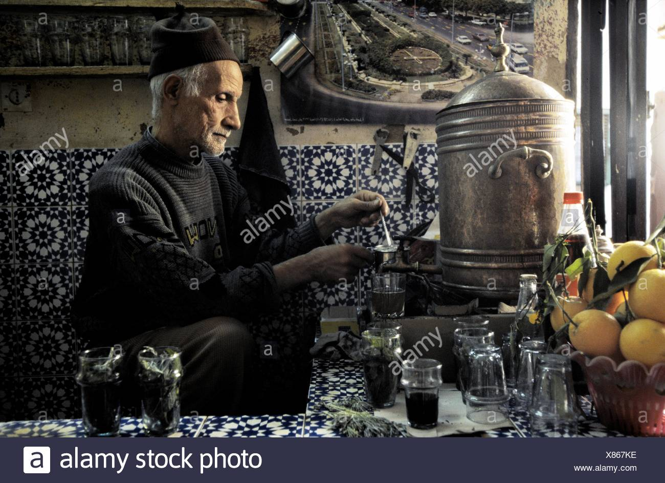 Teteria tradicional  Fes el Bali  Fez Ciudad Imperial Marruecos Africa Stock Photo