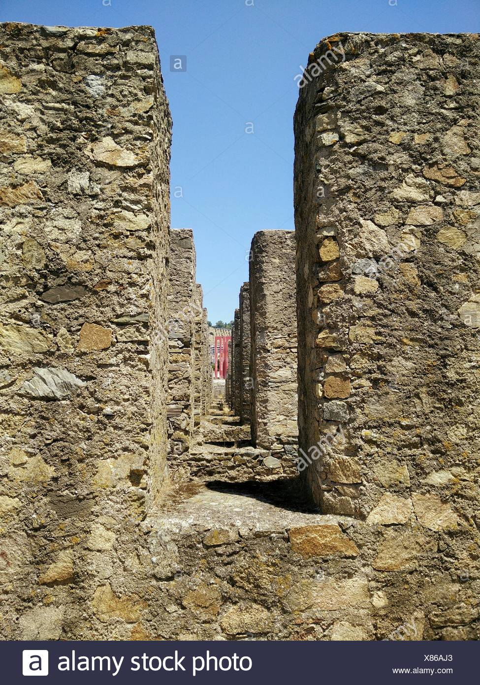 Old Fortified Wall - Stock Image