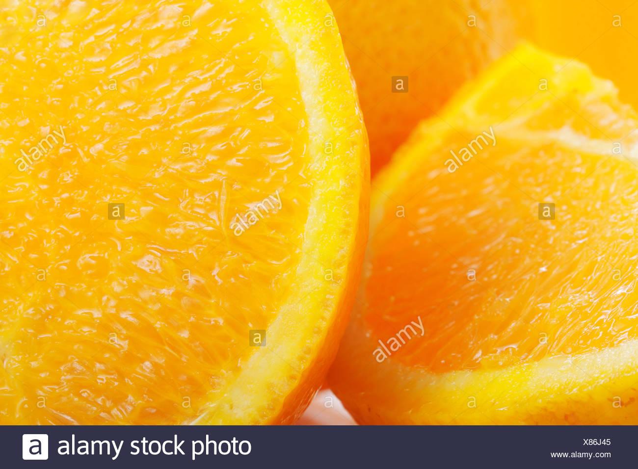 Cut oranges - Stock Image