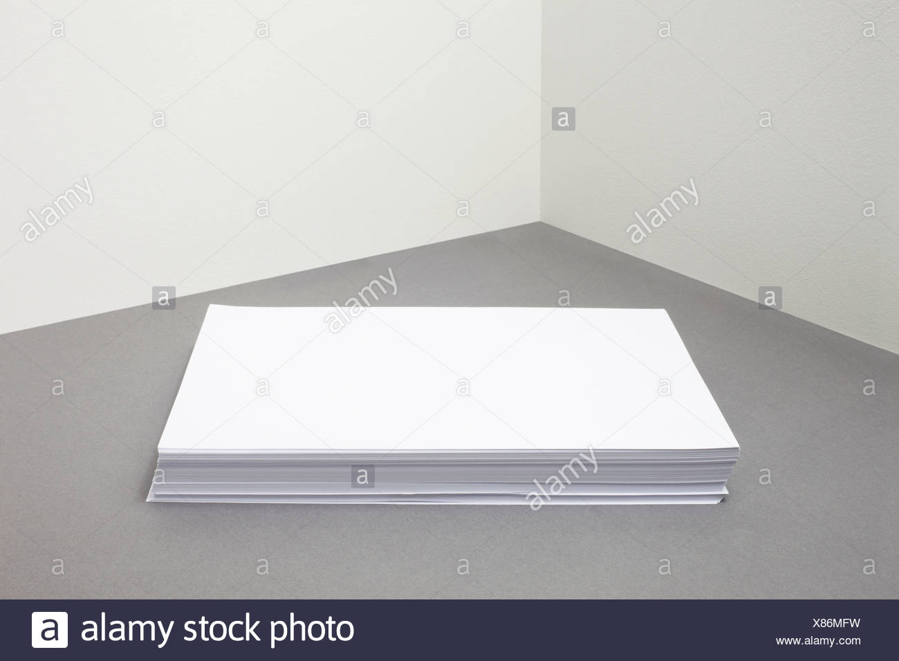 Stack of blank paper Stock Photo
