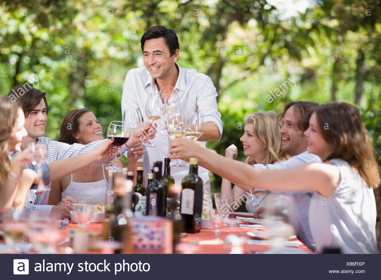 Family at the table - Stock Image