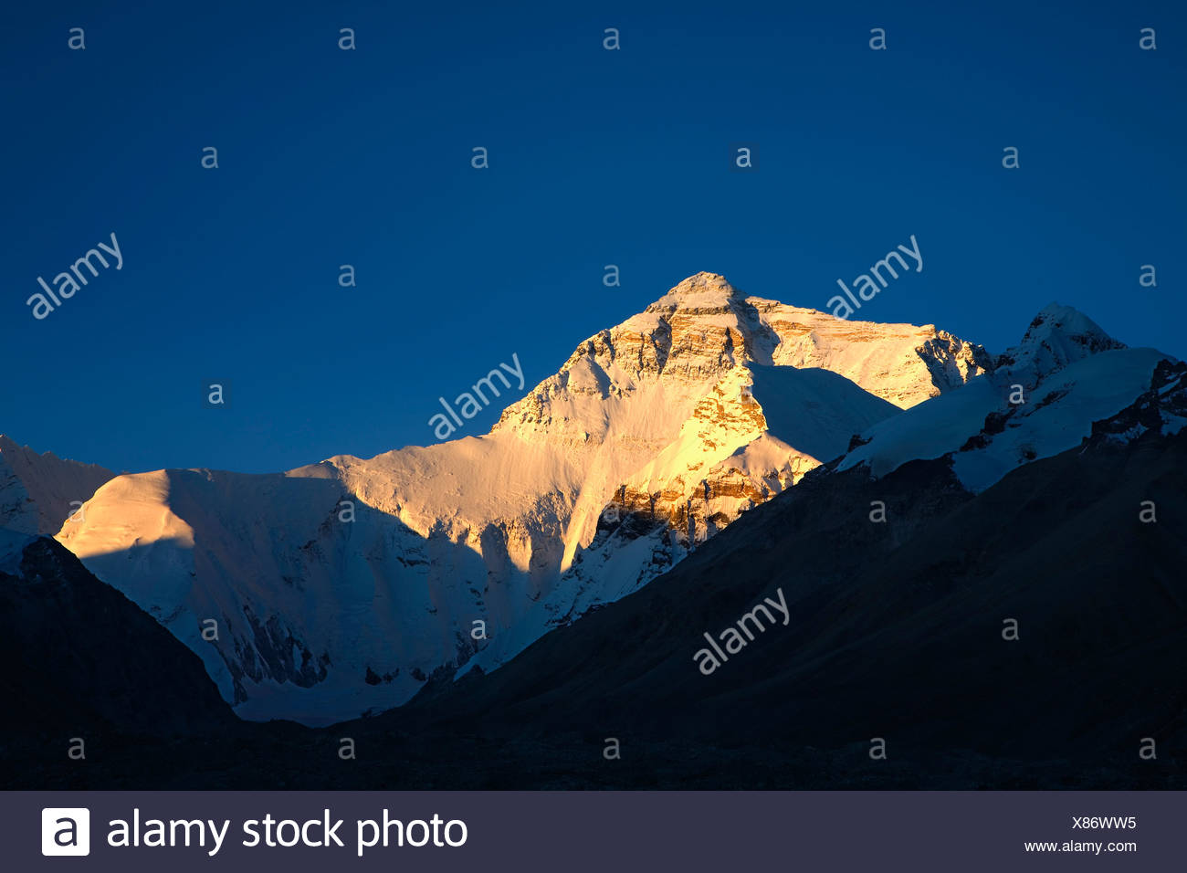 Mt. Everest in Tibet,China - Stock Image