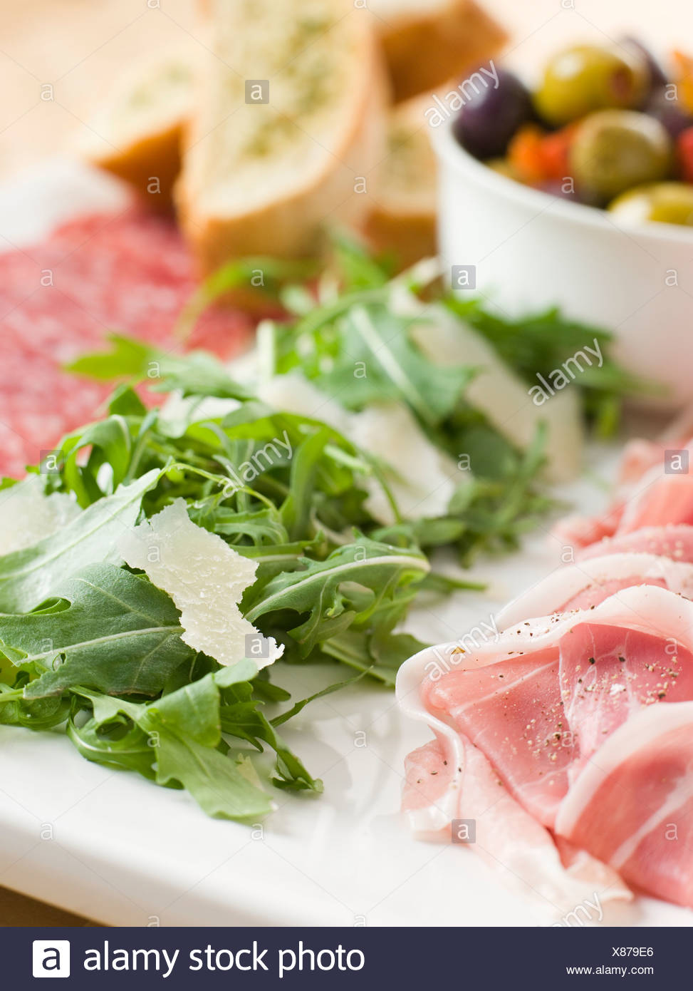 Platter of Anti Pasta - Stock Image