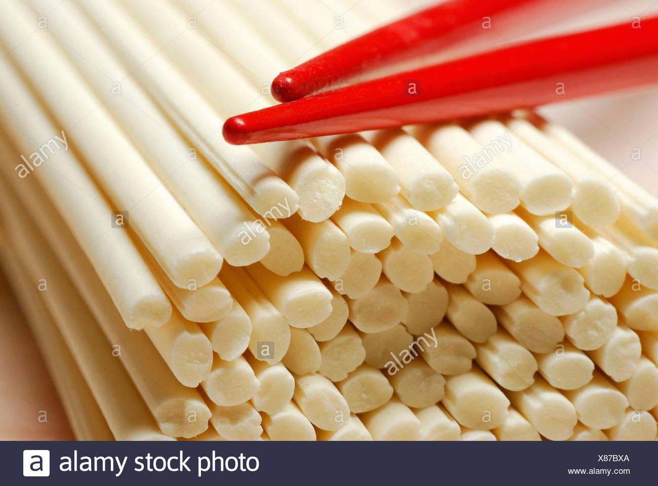 Udon noodles - Stock Image