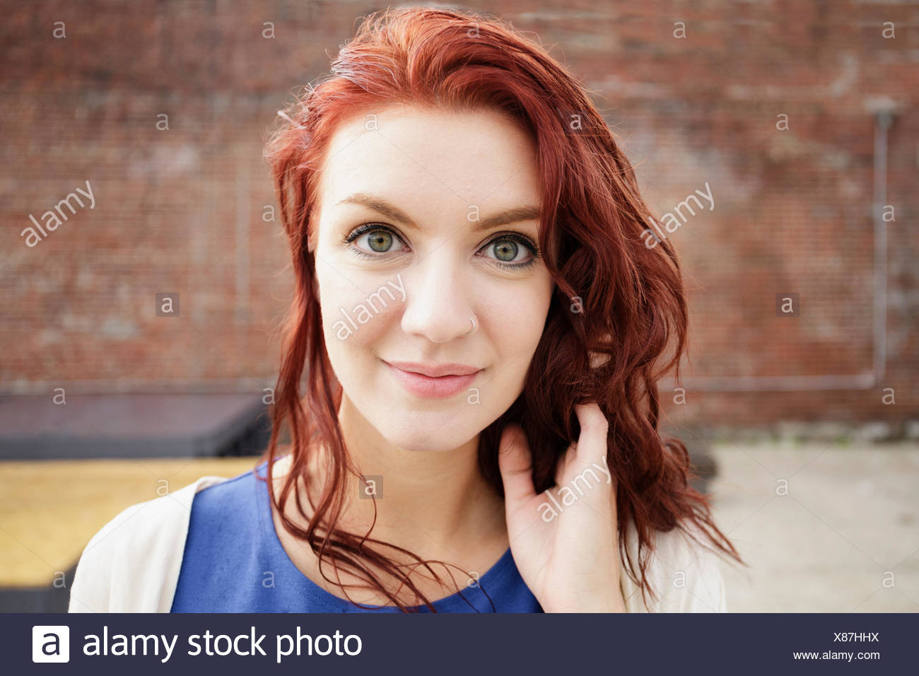 Woman With Red Hair Stock Photos   Woman With Red Hair Stock Images ... 5edd5ff9957a