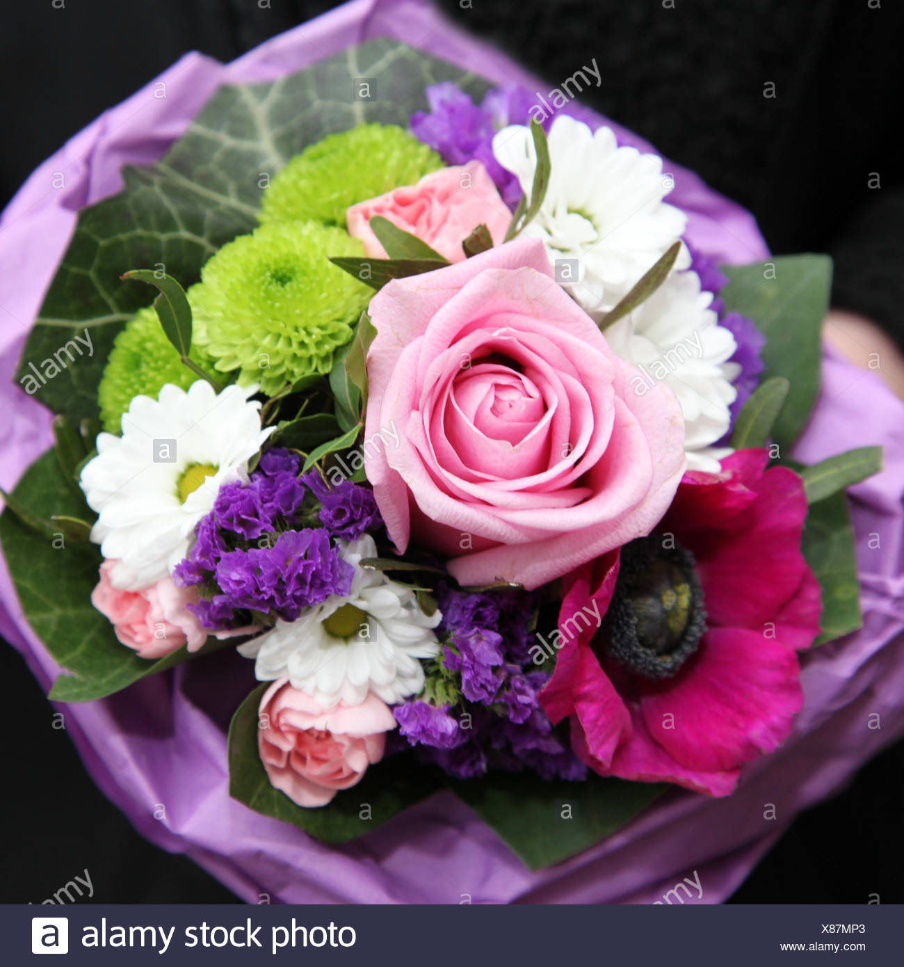 Colourful bouquet of mixed flowers stock photo 280453099 alamy colourful bouquet of mixed flowers izmirmasajfo