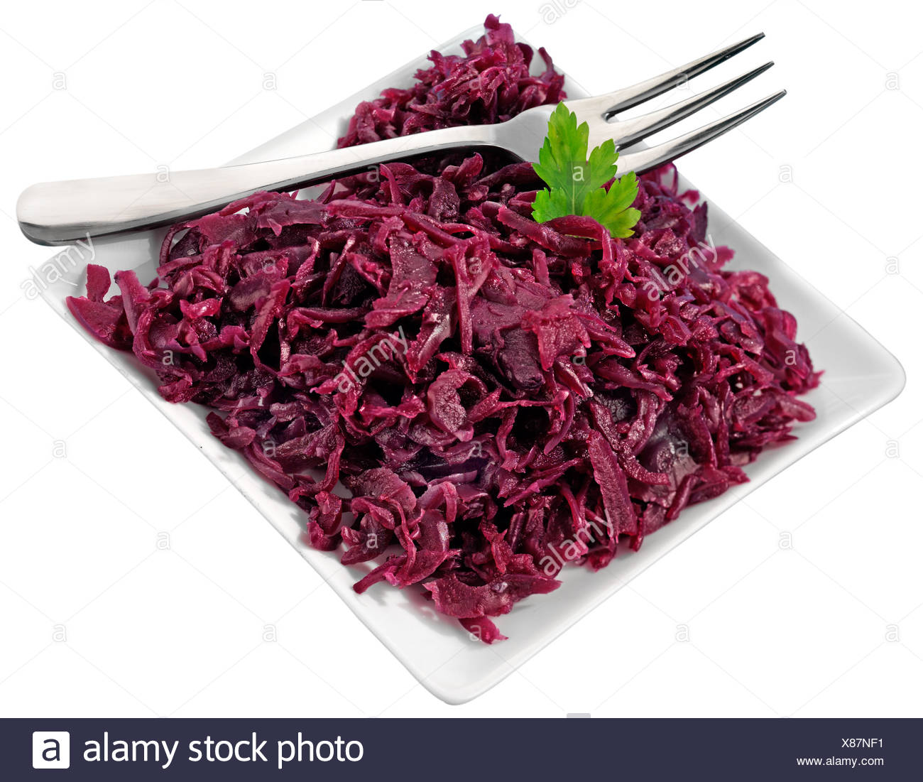 GERMAN ROTKOHL RED CABBAGE CUT OUT - Stock Image