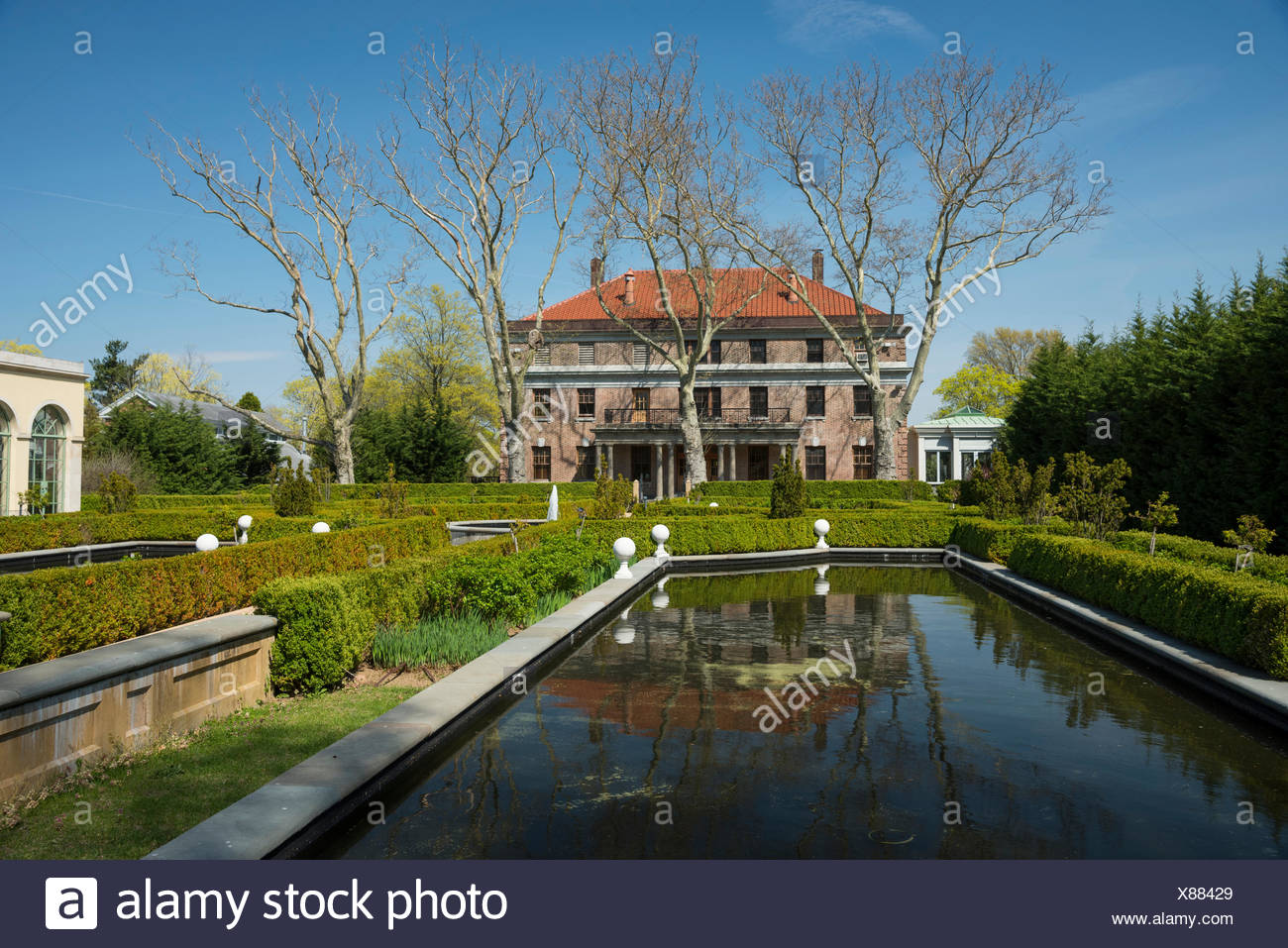 USA,New York,Brooklyn,Staten Island,Snug Harbor,Cultural center - Stock Image