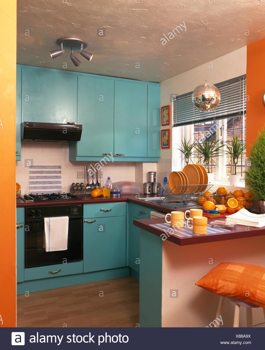 Interiors Kitchen Nineties Yellow Stock Photos & Interiors Kitchen ...