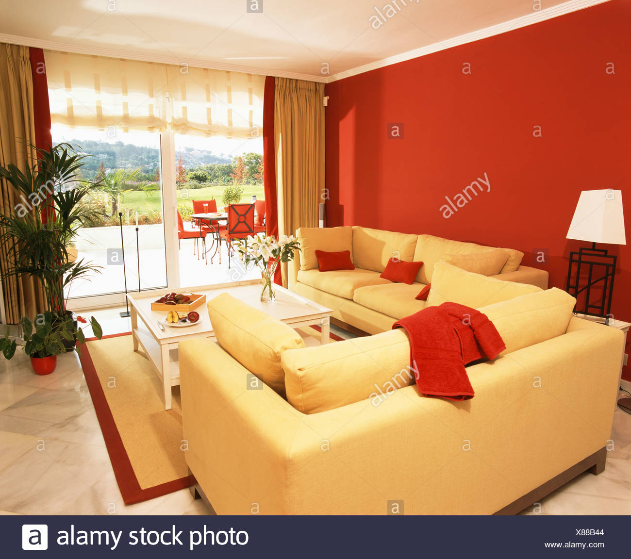 Red-yellow-room & I Adore This Family Room By Michael S. The Blue ...