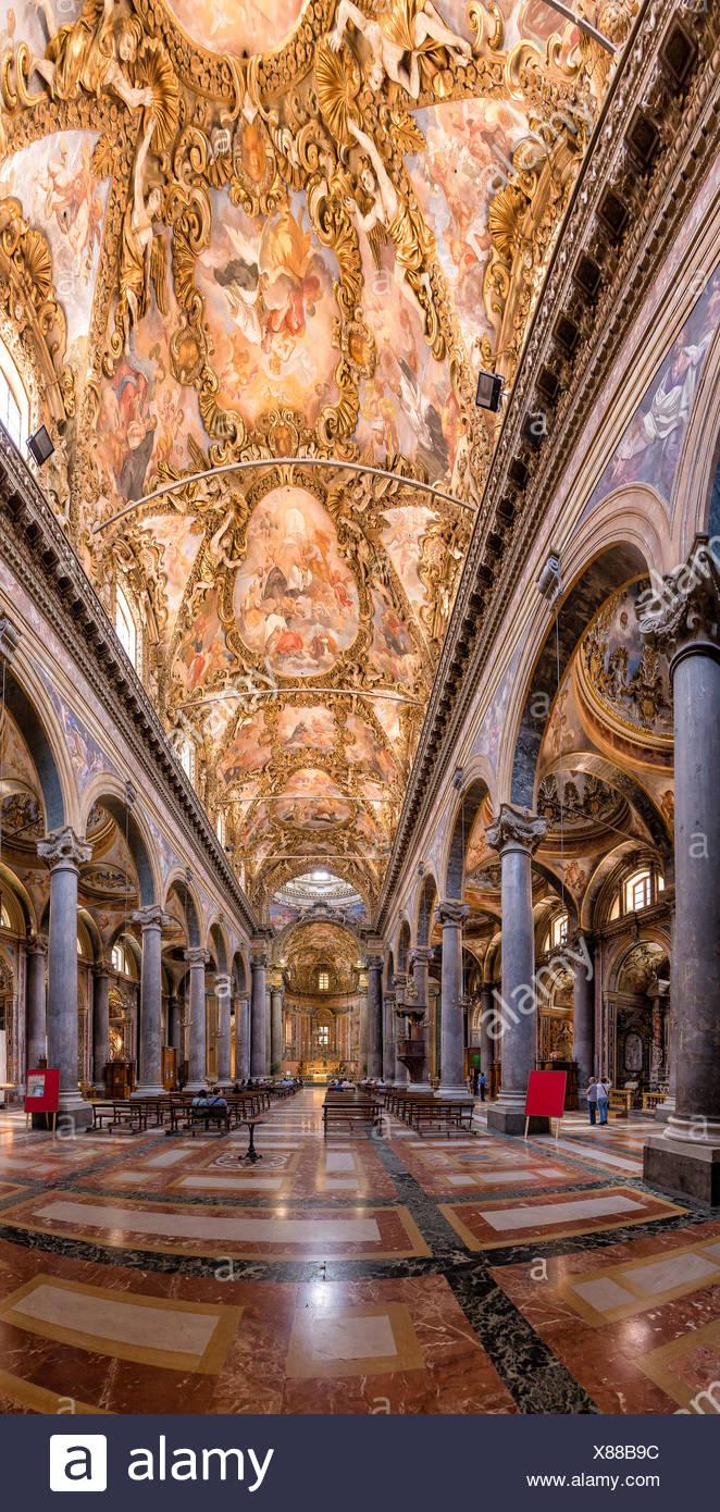 interior chiese San Giuseppe dei Teatini - Stock Image