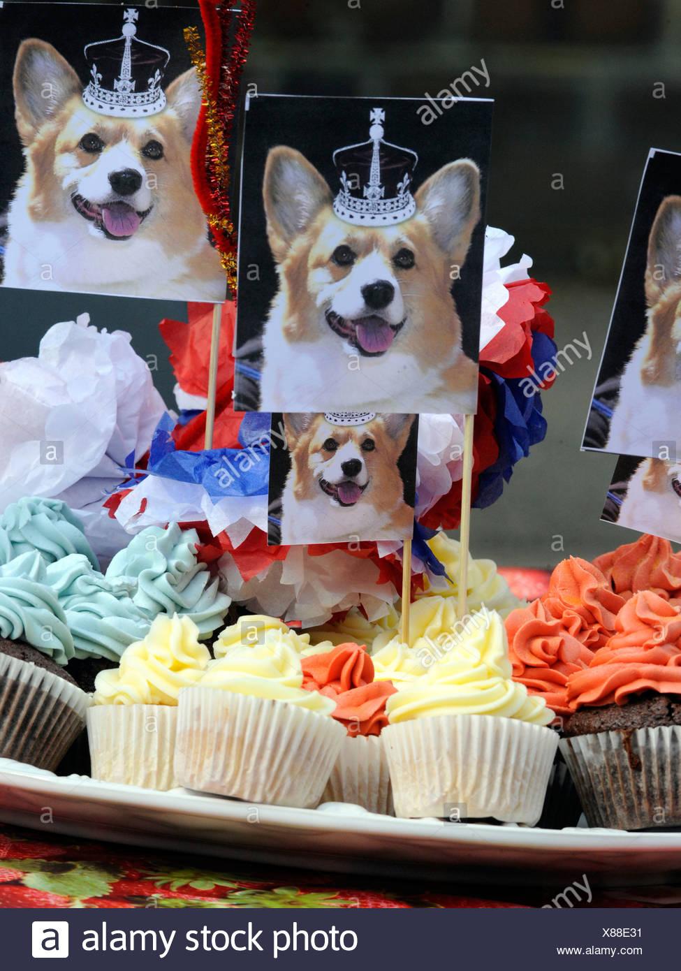 Royal Wedding celebration cakes. - Stock Image