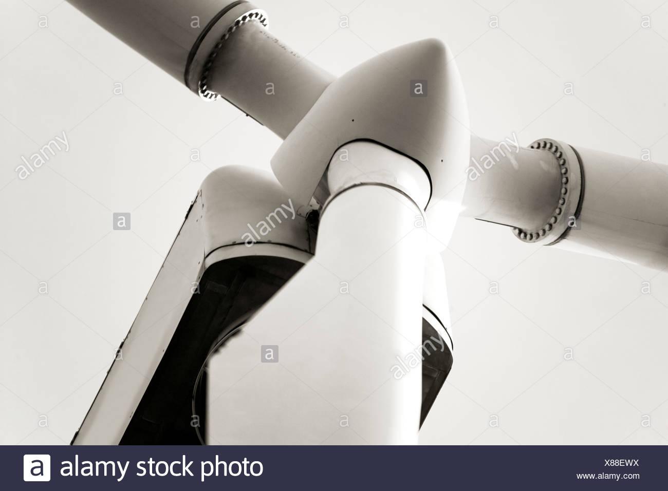 Wind turbine, close-up - Stock Image