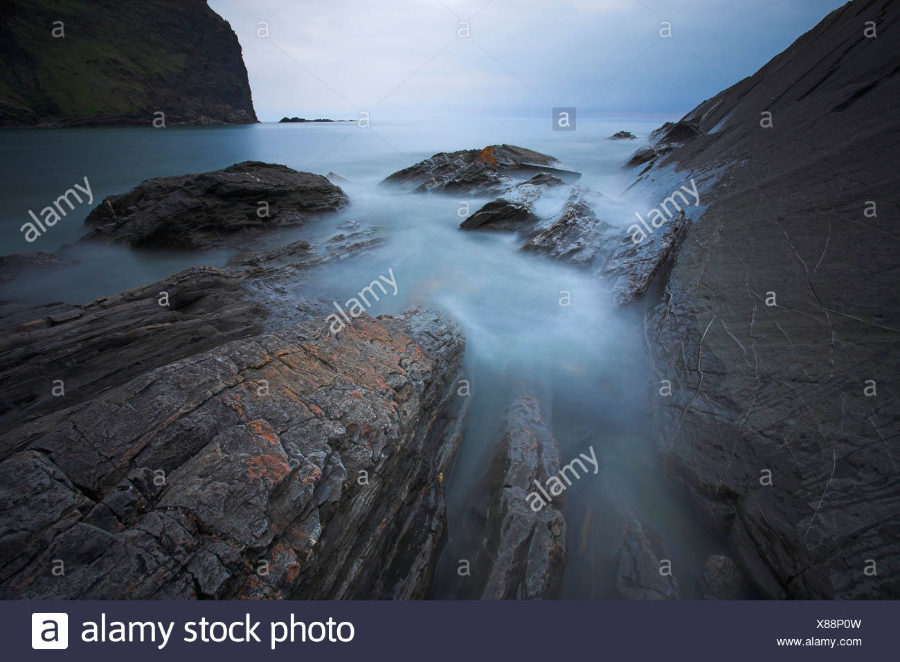 Crackington Haven, Cornwall, UK - Stock Image