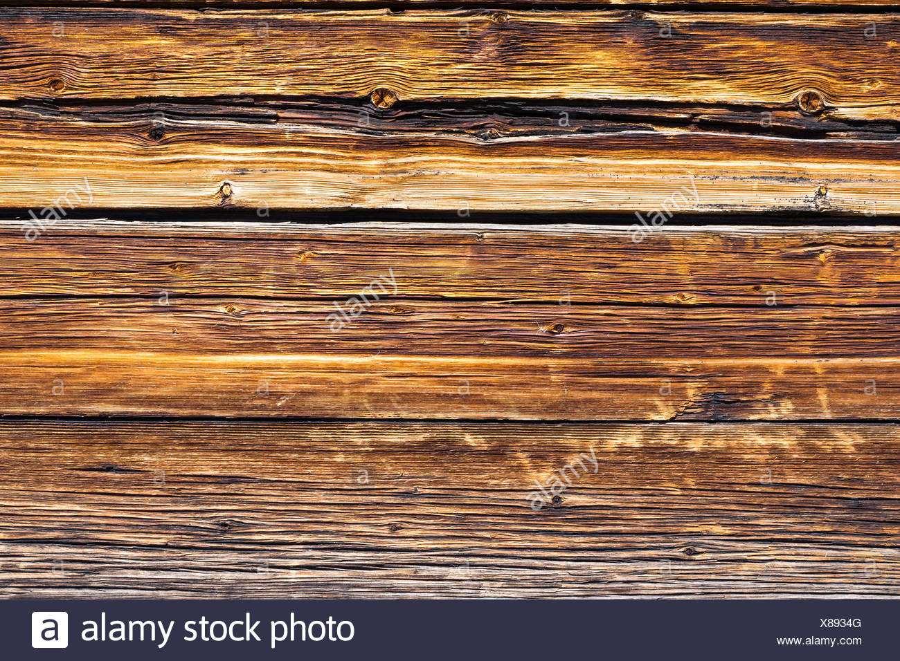 Brown wooden board - Stock Image