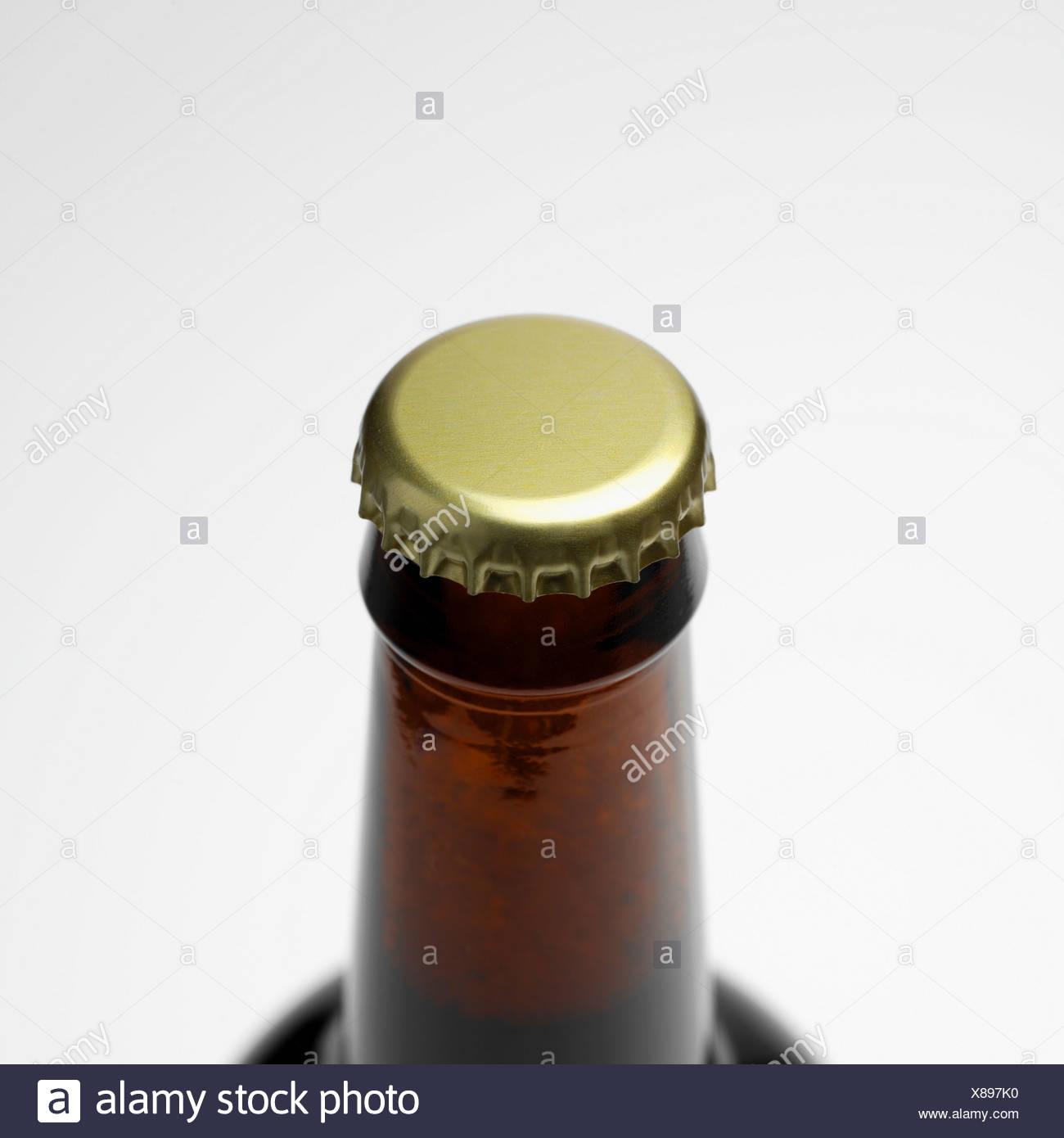 Unopened bottle top - Stock Image