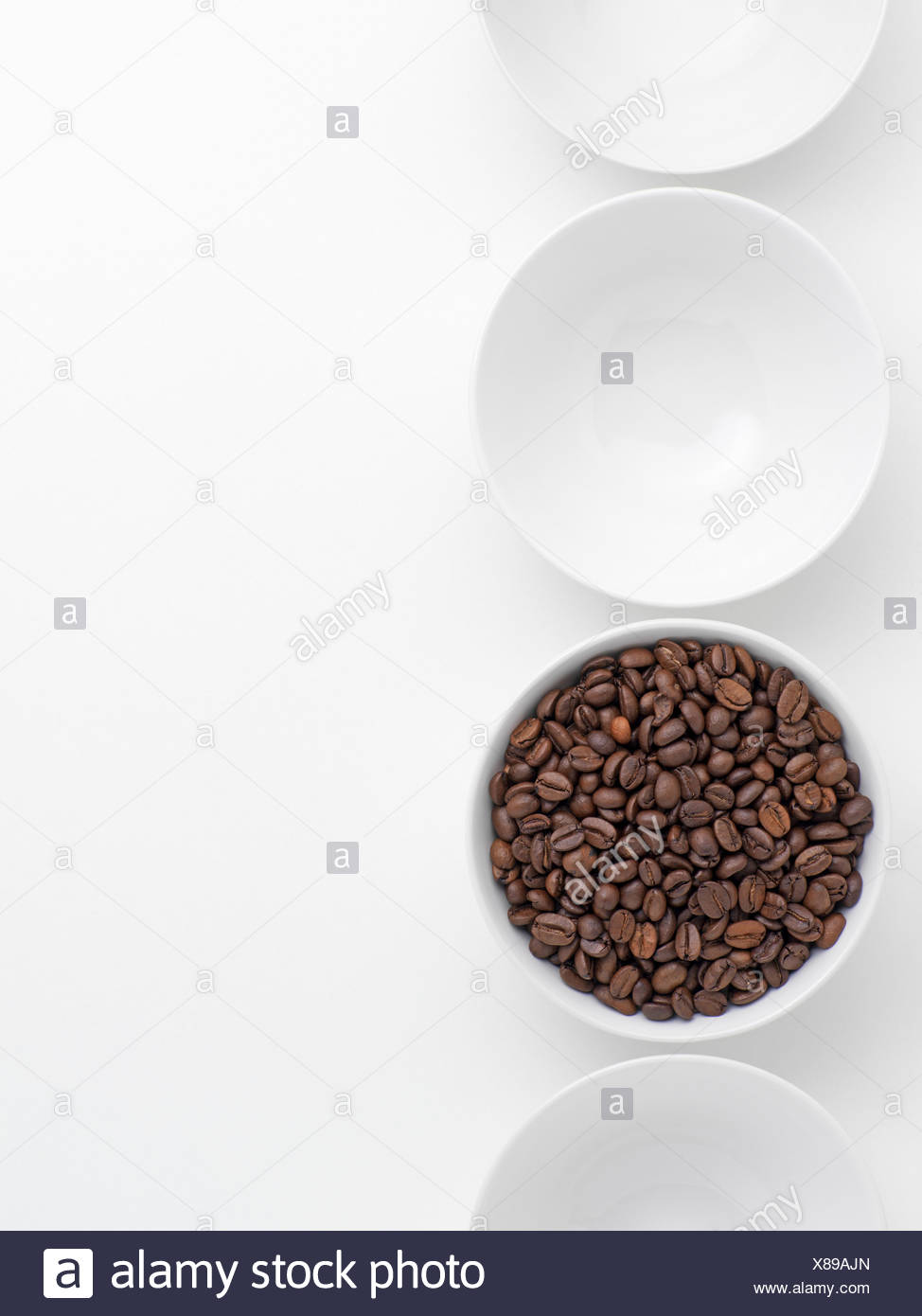 Coffee beans in a bowl Stock Photo