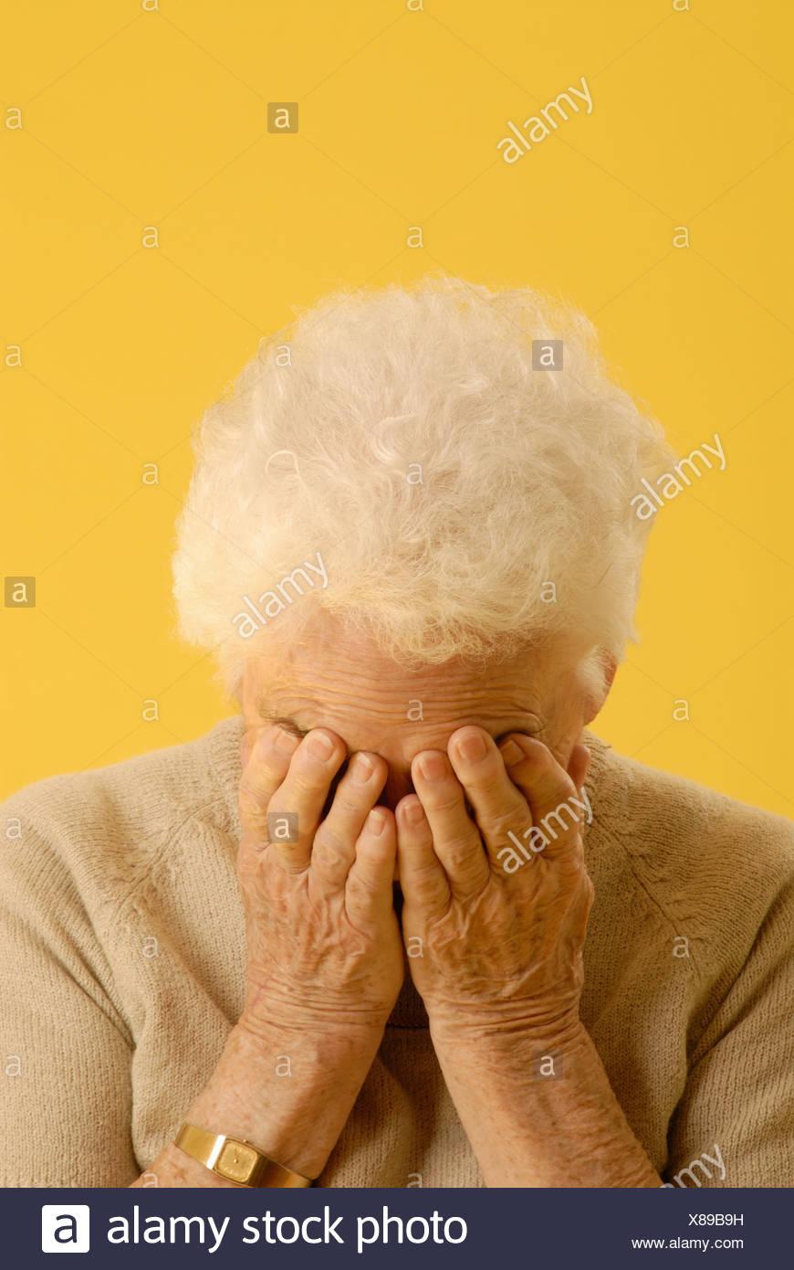 Senior Woman headshot, Regina, Saskatchewan - Stock Image