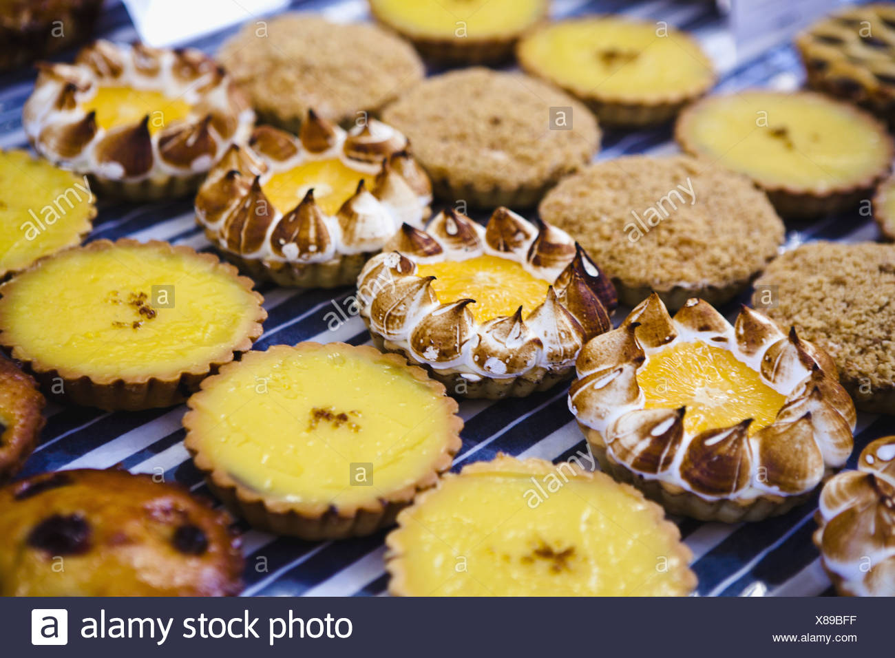 Close up of decorative cookies - Stock Image