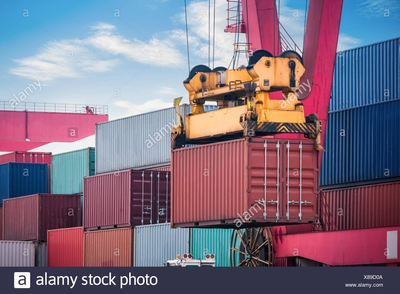 Loading Unloading Of Goods Stock Photos Amp Loading