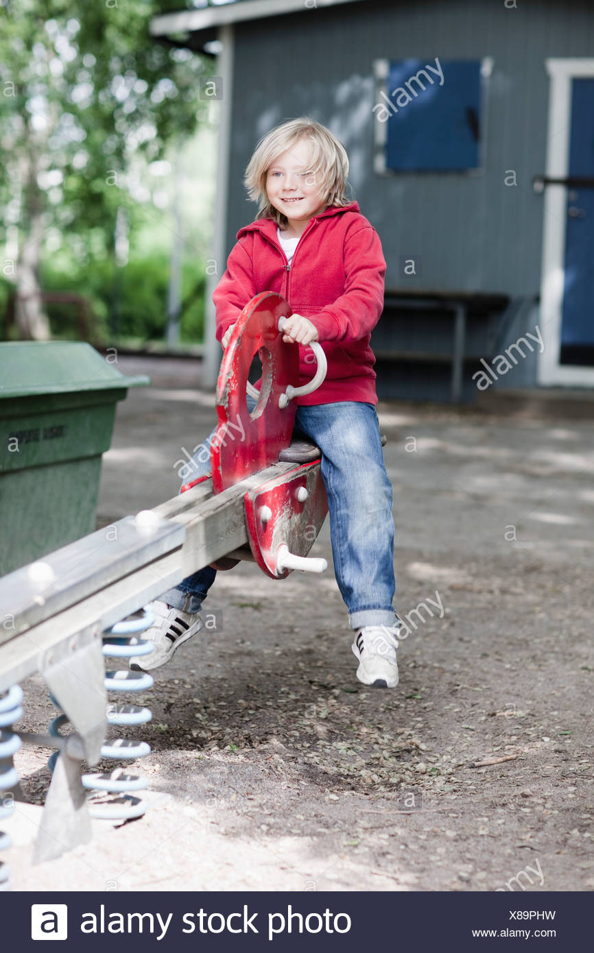 Child on play ground - Stock Image