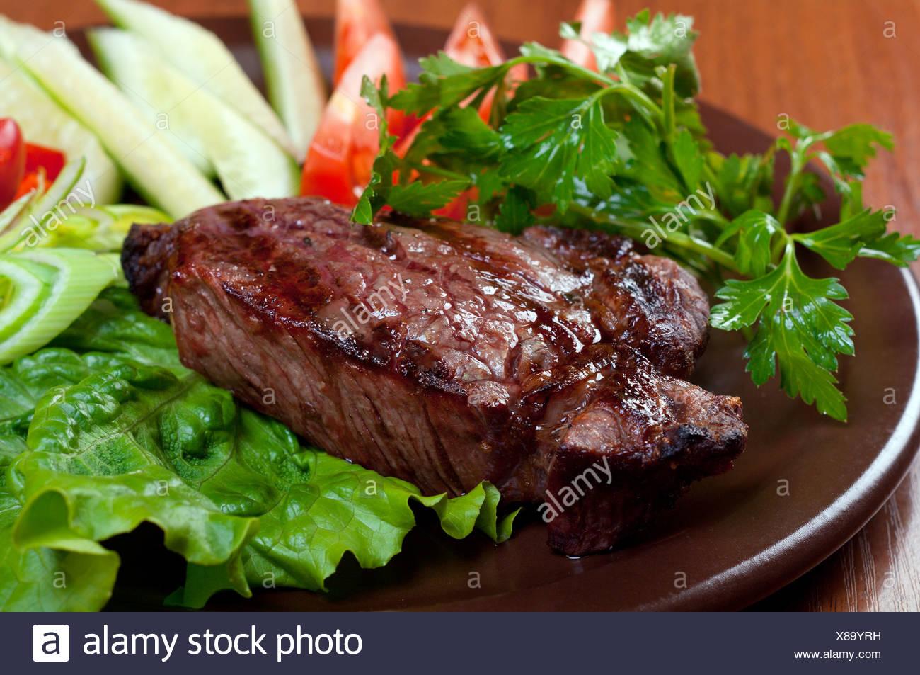 steak chorizo - Stock Image