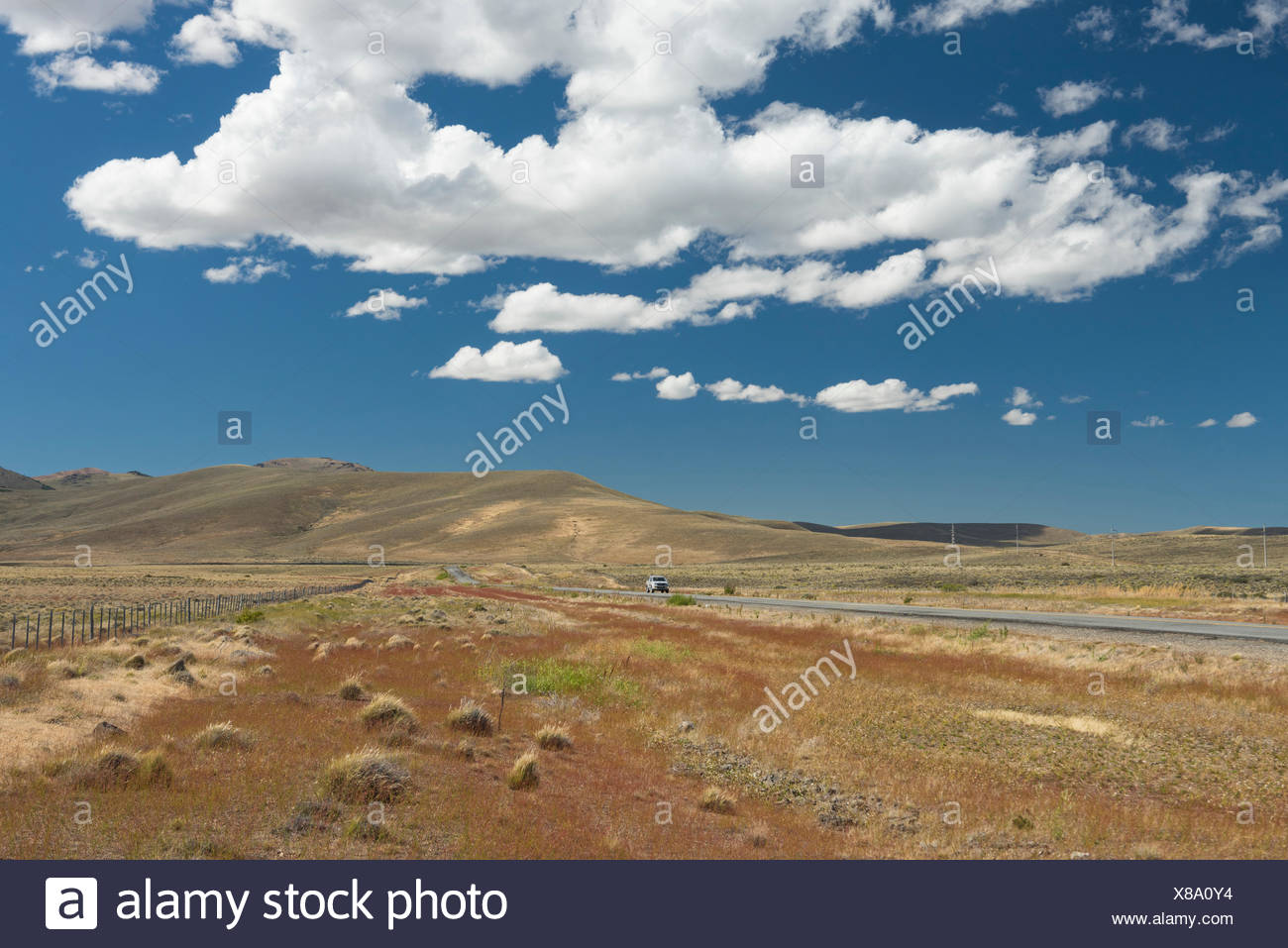 South America,Argentina,Patagonia,Chubut,highway,Ruta 40,highway - Stock Image