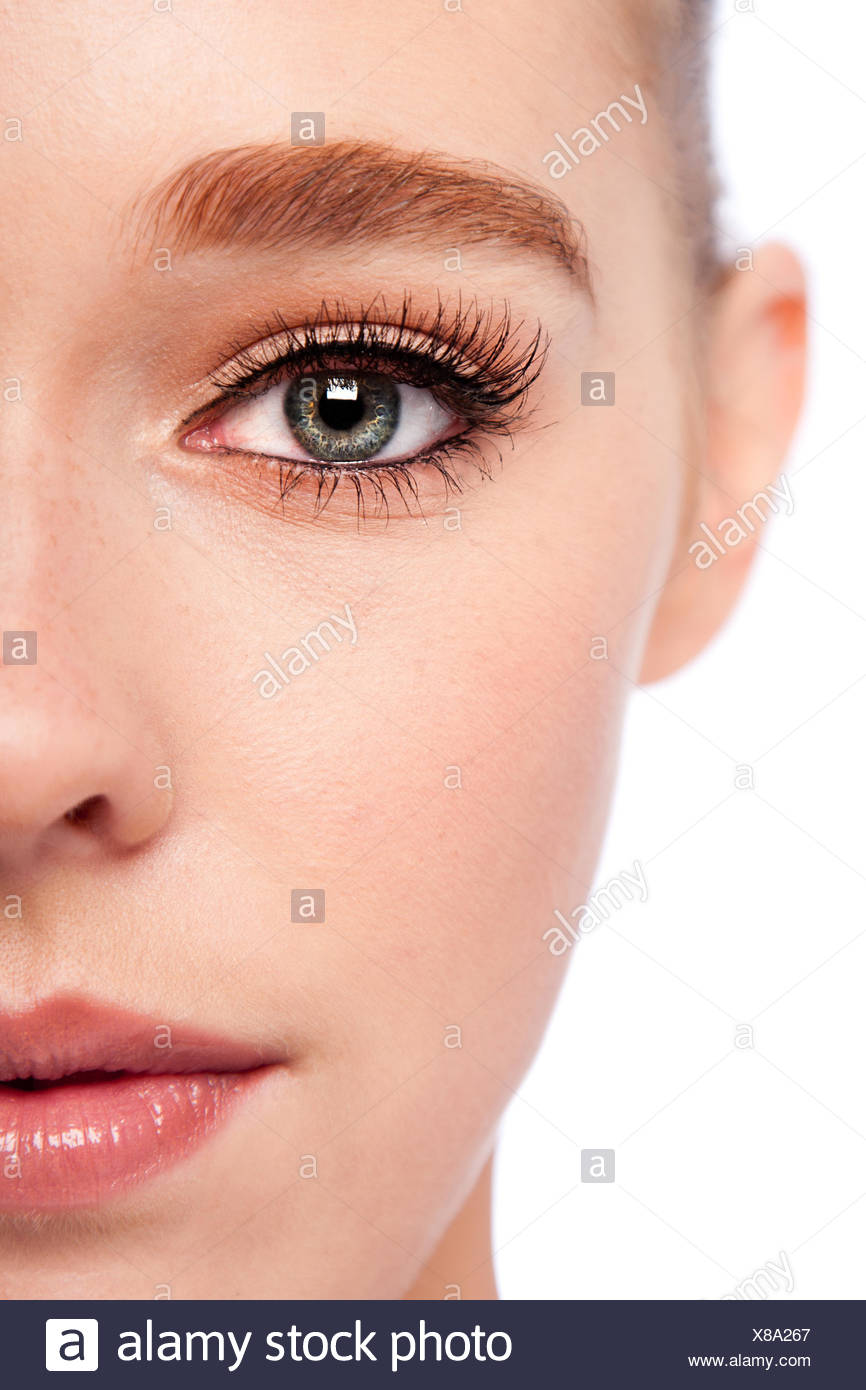 Beauty Eye and half face - Stock Image