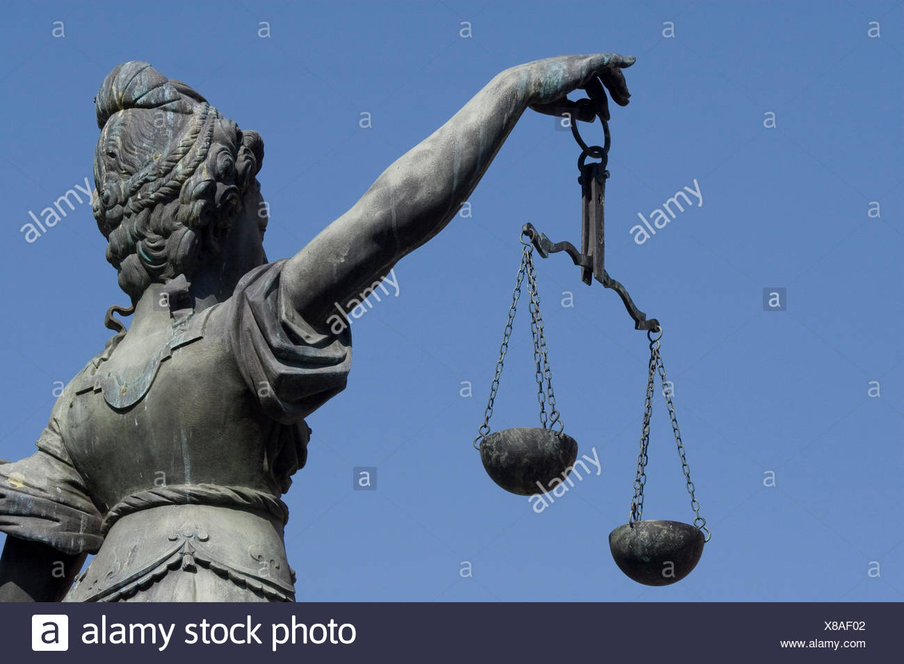 scales justice judgment - Stock Image