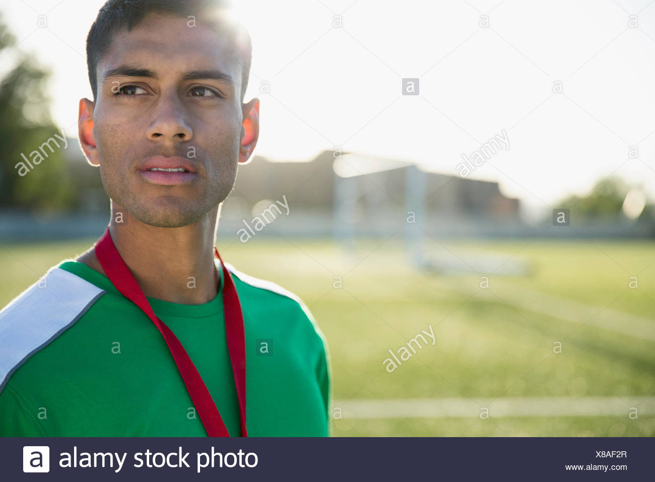 fab9b401b Young adult soccer coach looking away Stock Photo: 280514495 - Alamy