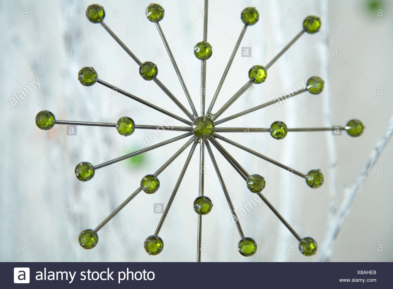 Christmas decoration on twig tree - Stock Image